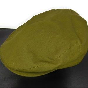 London Fog Men's Green Cabbie Newsboy Cap Hat EUC